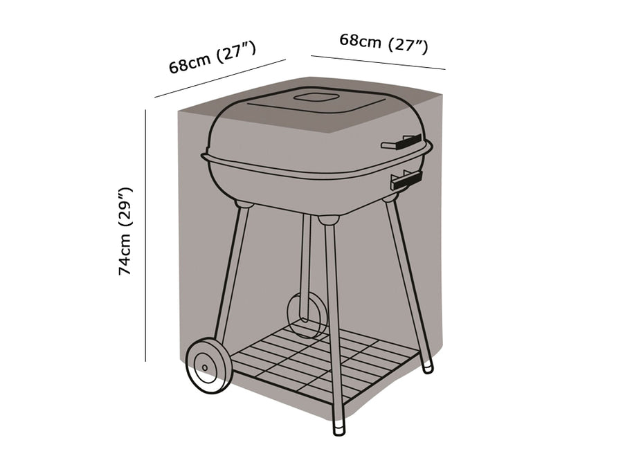 W1104 Square BBQ Cover Measurements