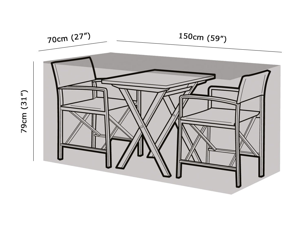 2 Seater Large Bistro Set Cover