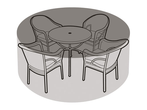 W1196 4-6 Seater Round Table & Chairs Cover - Worth Gardening by Garland
