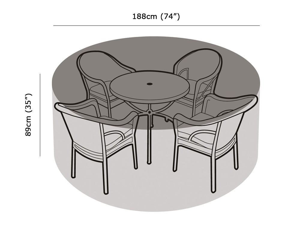 4-6 Seater Round Table & Chairs Cover