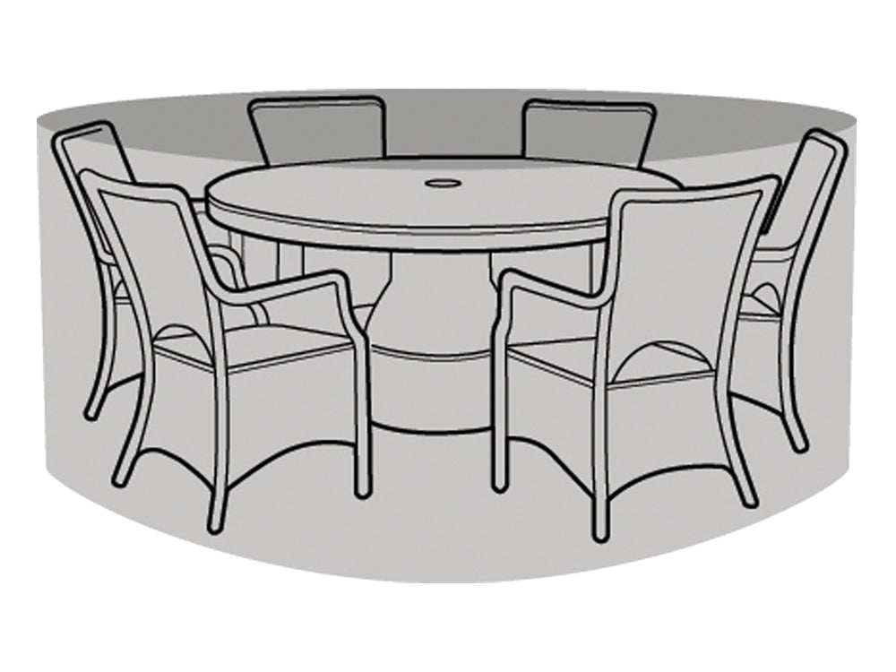 6 Seater Round Table & Chairs Cover