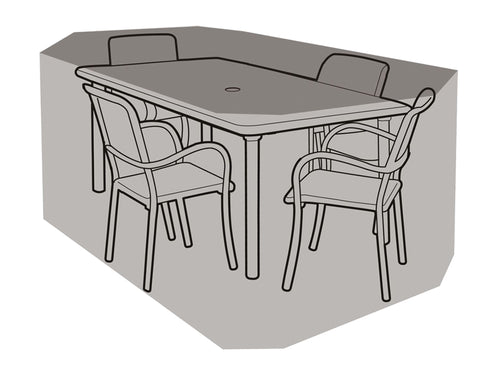 W1204 4 Seater Rectangular Table & Chairs Cover - Worth Gardening by Garland