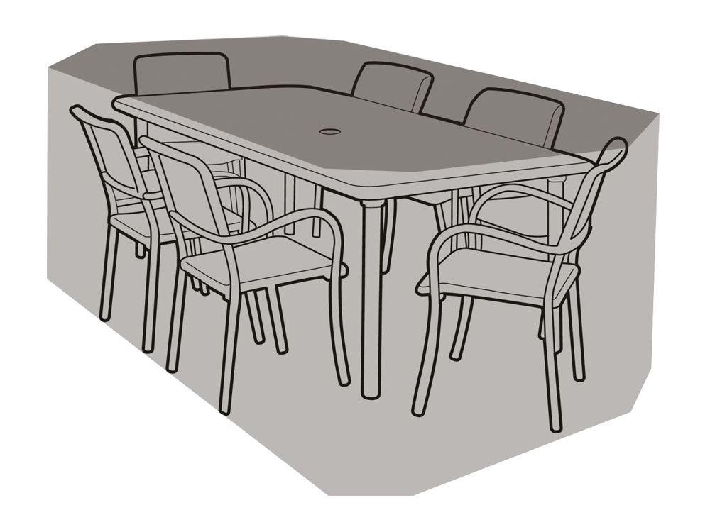 6 Seater Rectangular Table & Chairs Cover