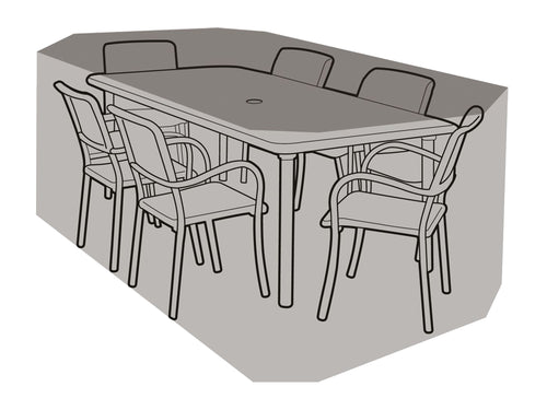 W1208 6 Seater Rectangular Table & Chairs Cover - Worth Gardening by Garland