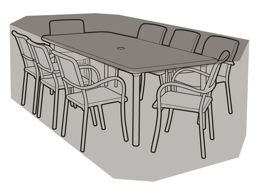 W1212 8 Seater Rectangular Table & Chairs Cover - Worth Gardening by Garland