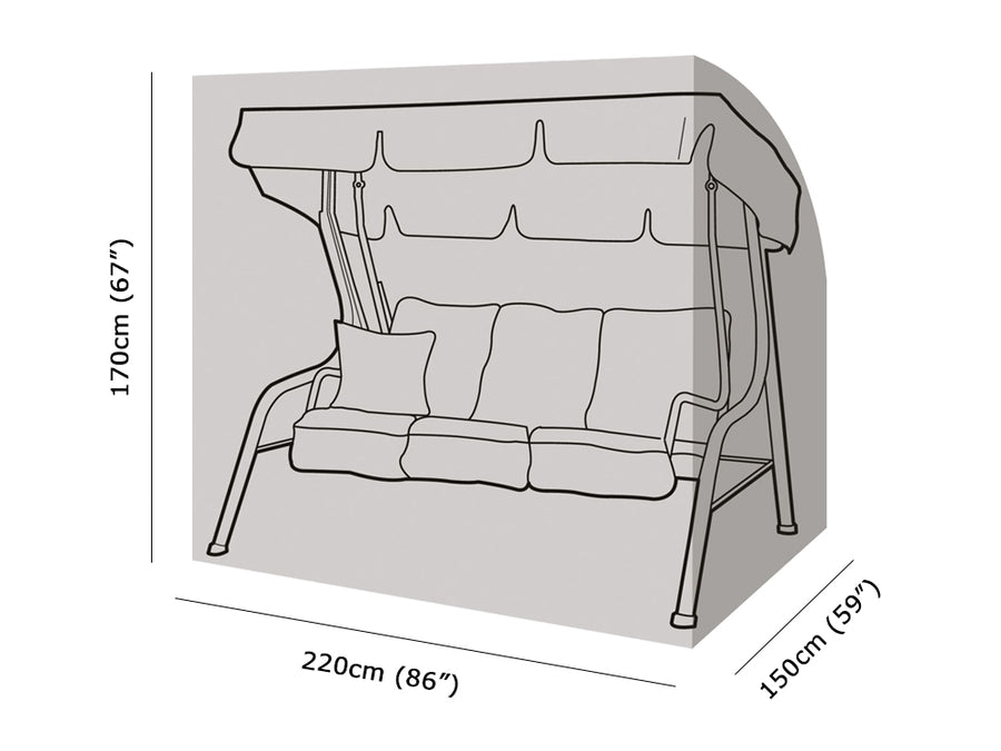 W1228 3 Seater Swing Seat Cover Measurements