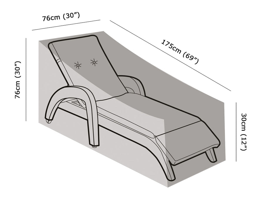 W1248 Sun Lounger Cover Measurements