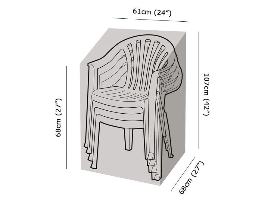 W1252 Stacking Chair Cover Measurements