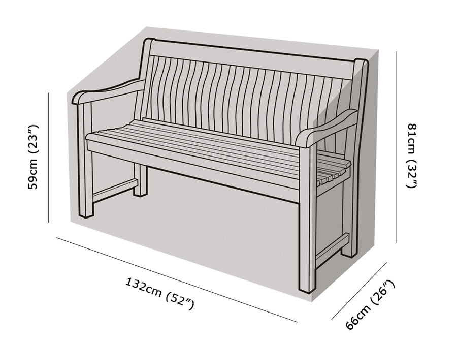 W1264 2 Seater Bench Cover Measurements