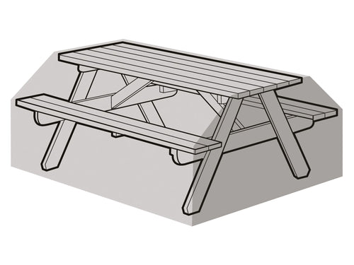 W1280 6 Seater Picnic Bench - Worth Gardening by Garland