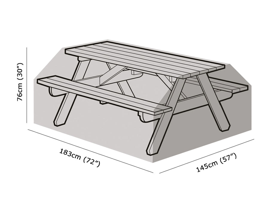 W1508 8 Seater Picnic Table Cover Measurements