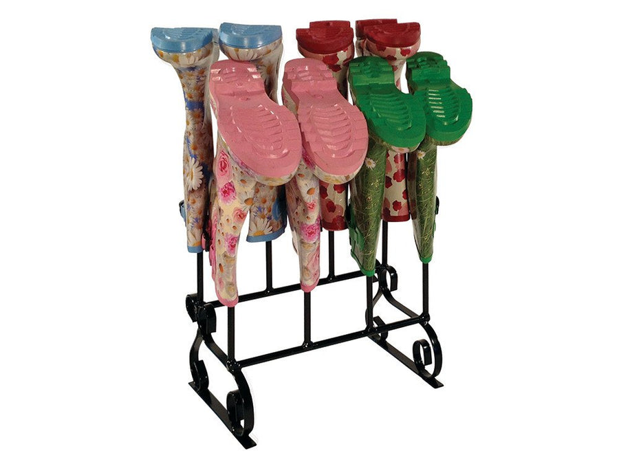 Wellington Boot Rack, designed to hold 4 pairs of Wellies - In use