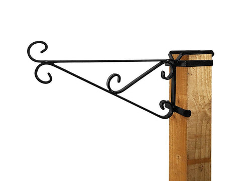 Wooden Post Hanging Basket Bracket