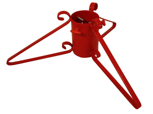 Metal Christmas Tree Stand for live Christmas Tree - Red