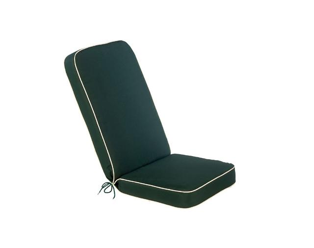 Glencreast Seatex - Bespoke Seat Pad with Back - Green