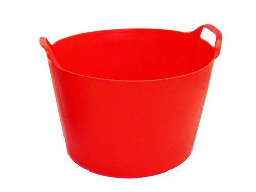 Garden Trug / Flexible Bucket / Rubber Bucket - Red