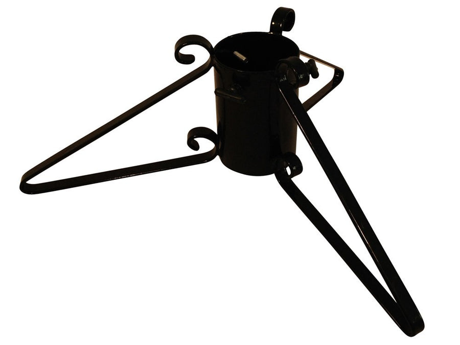 Metal Christmas tree stand with 3 legs in black