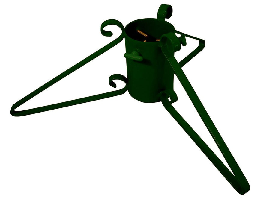 Metal Christmas tree stand with 3 legs in green