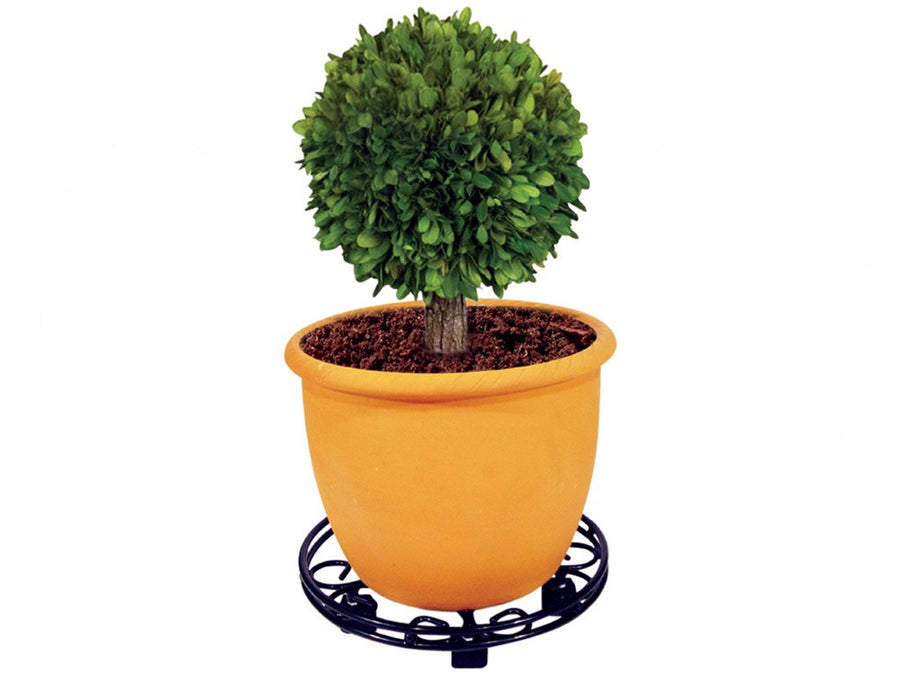 Round Pot Caddy Plant Pot Mover, plant pot wheels - In use