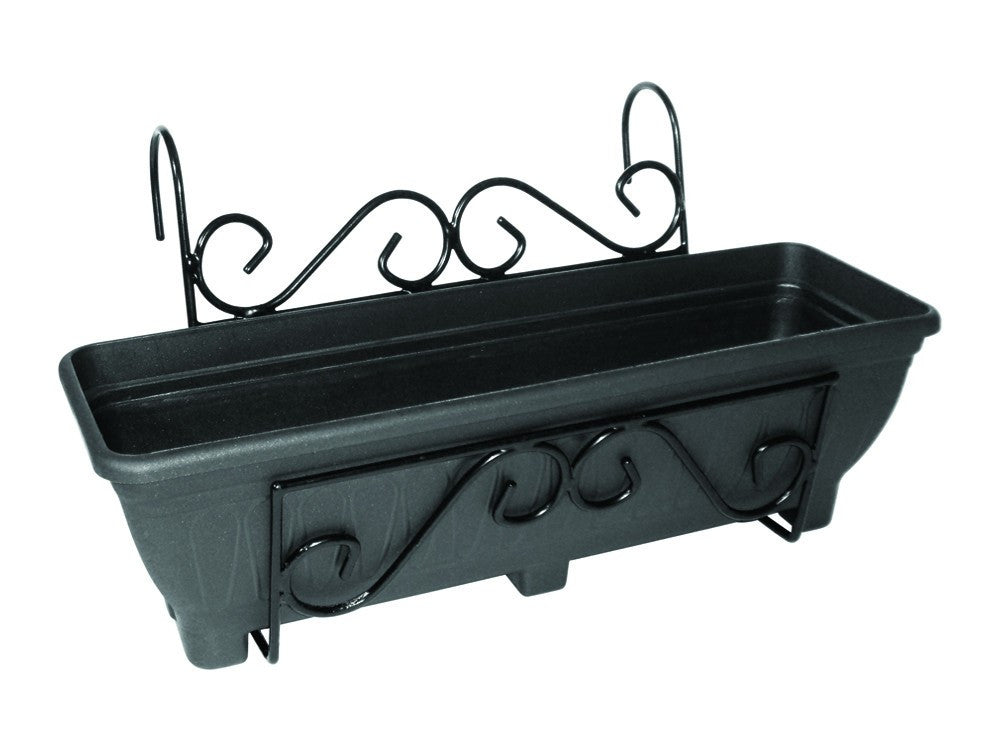 Balcony/Fence Holder - Scrolled Back Planter Holder
