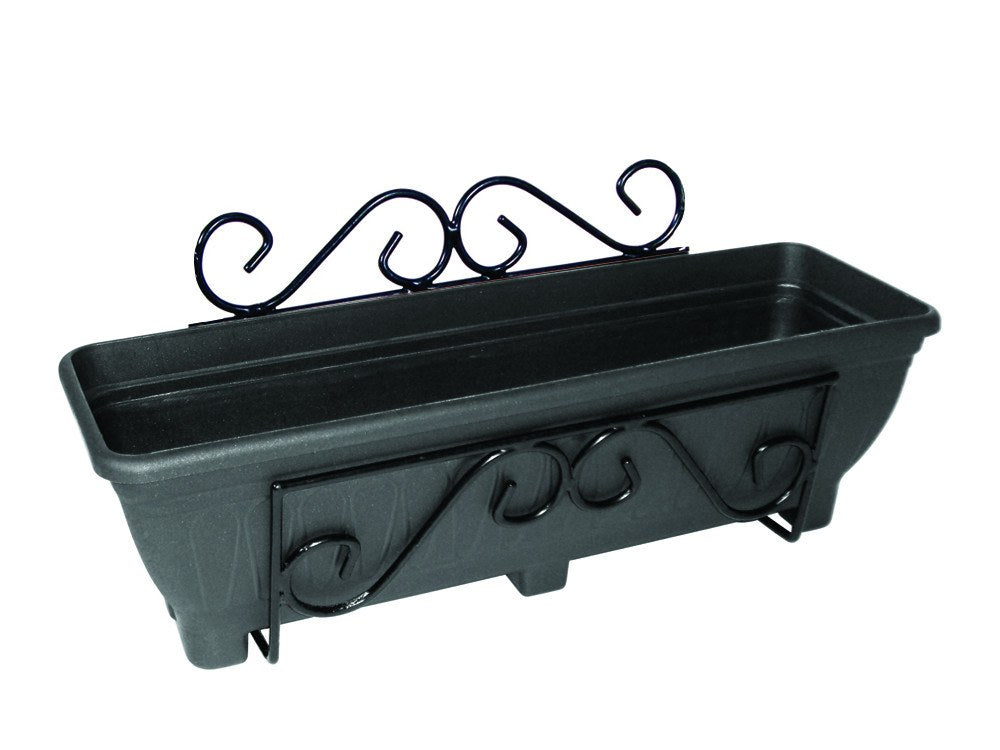 Wall Mounted Planter Trough Holder - Scrolled