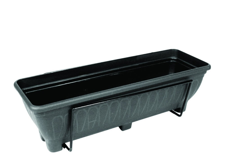 Wall mounted trough planter - Charcoal