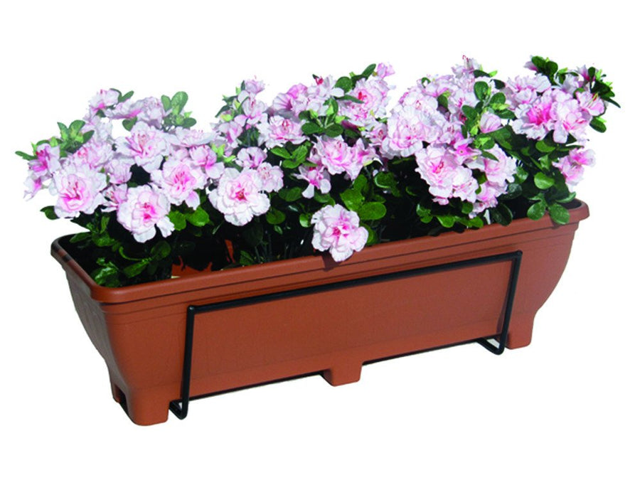 Wall mounted trough planter - Planted
