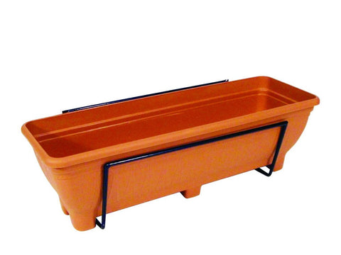 Wall mounted trough planter - Terracotta