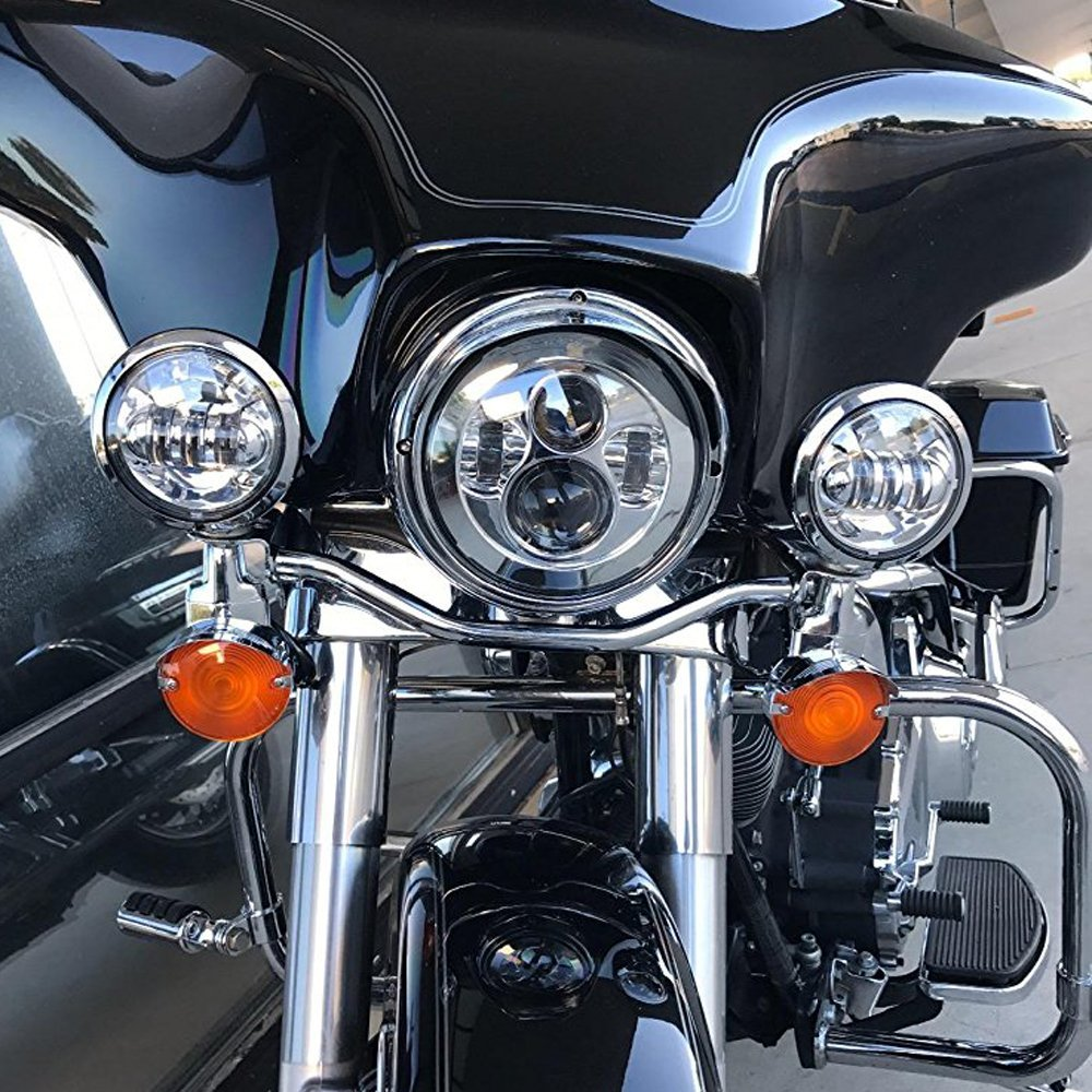 7 Quot Led Headlight 4 5 Quot Cree Fog Lights For Harley Led