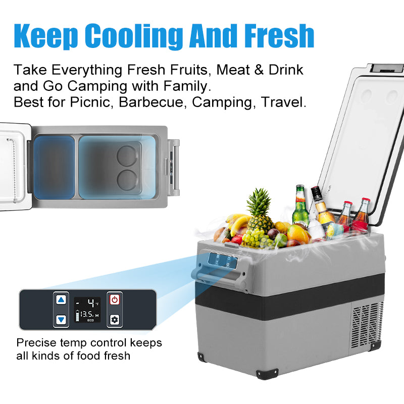45L Portable Refrigerator Car Freezer for Outdoor Travel Driving