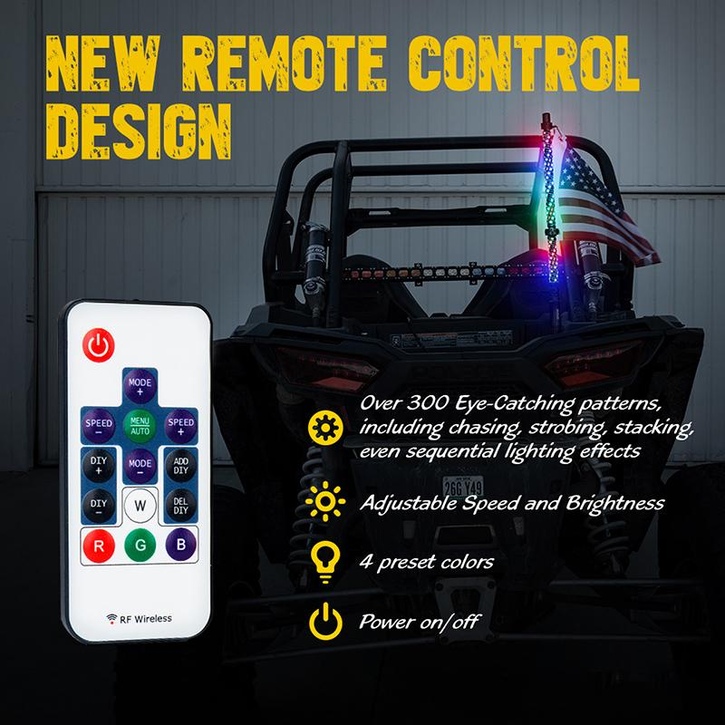 Boomersun Remote Controller for Spiral LED Whip Lights