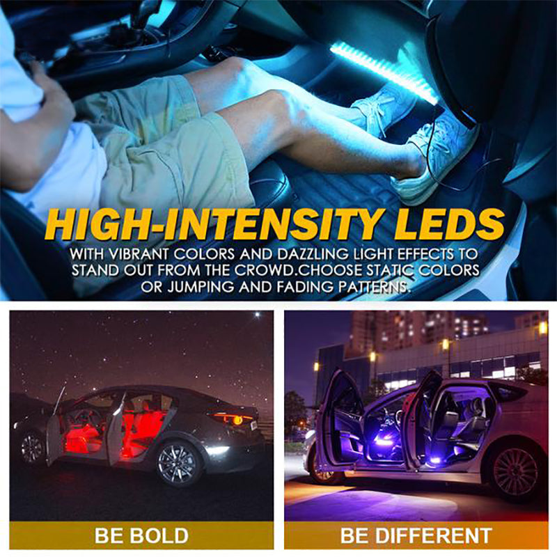4PC Celestial Series Interior RGB LED Car Light Set with Remote Control - Powered by USB