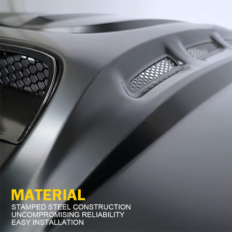 Piranha Series Hood with Functional Air Vents for 2007-2018 Jeep Wrangler JK