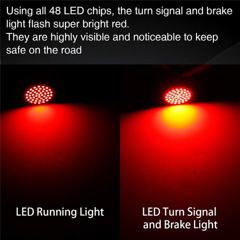 LED Turn Signals & Running Light with Dual Contact 1157 Insert Kit for  Motorcycles