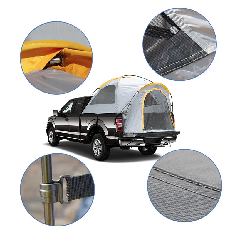 Waterproof 8'L Bed Tent Camping for Pickup Truck