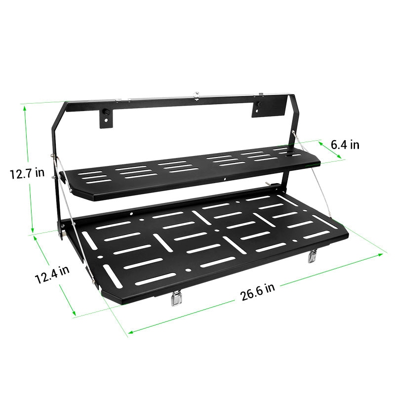 Foldable Double-Layer Tailgate Table Compatible with 2018-Later Jeep Wangler JL