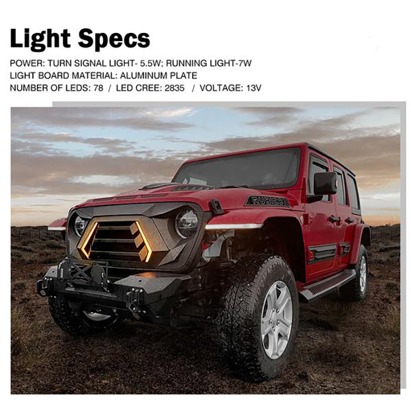 Vader Series Grille with Turn Signal and Daytime Running Lights