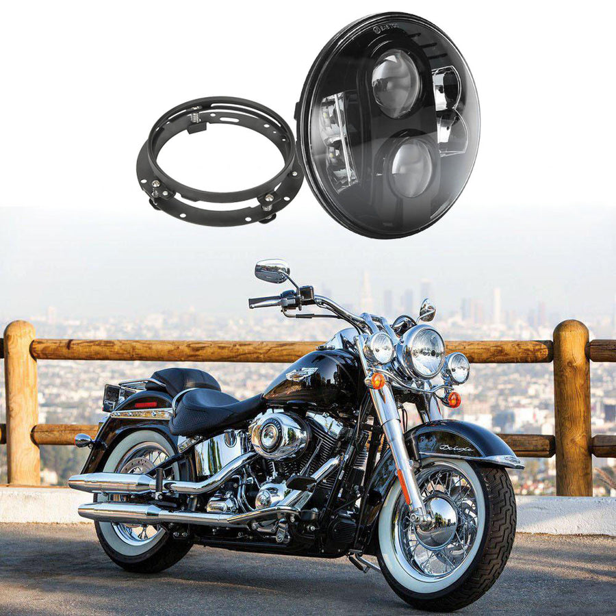 7-inch 80W LED Headlight with Mounting Bracket For Harley Davidson
