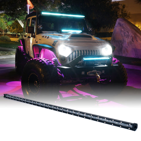 "USA ONLY Aquatic Series 44"" Single Row 210W LED Light Bar with Blue Backlight"
