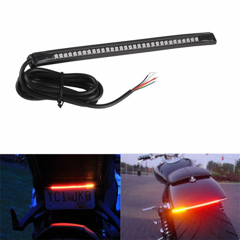 32 LED RED Motorcycle Tail Brake Stop Turn Signal Light Lamp 3528SMD Strip