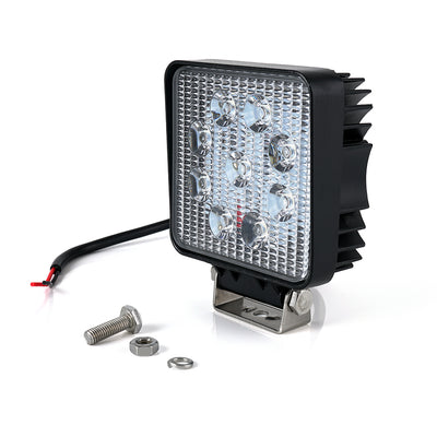 "USA ONLY 30 Degree Spot Beam 4"" 27W 4x4 Cube LED Offroad Light"
