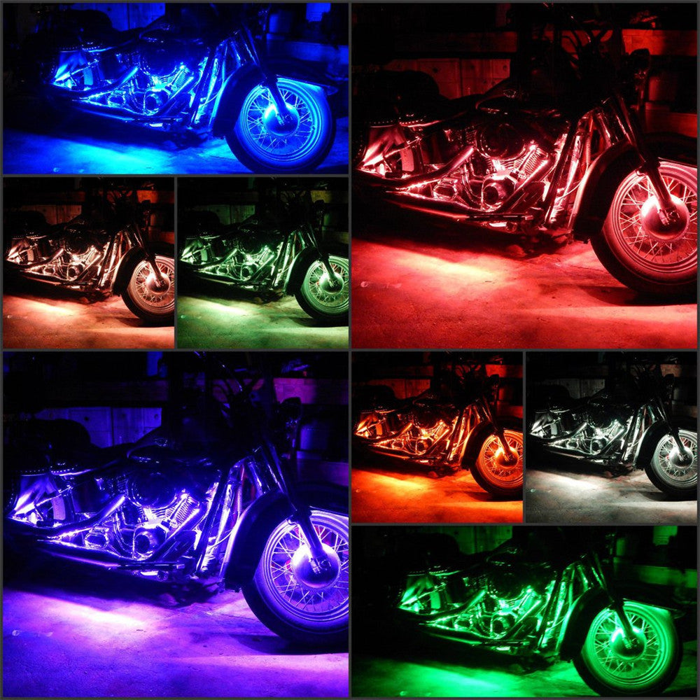 7-Color RGB LED Car / Motorcycle Under Glow Lights - Flexible Neon Strips