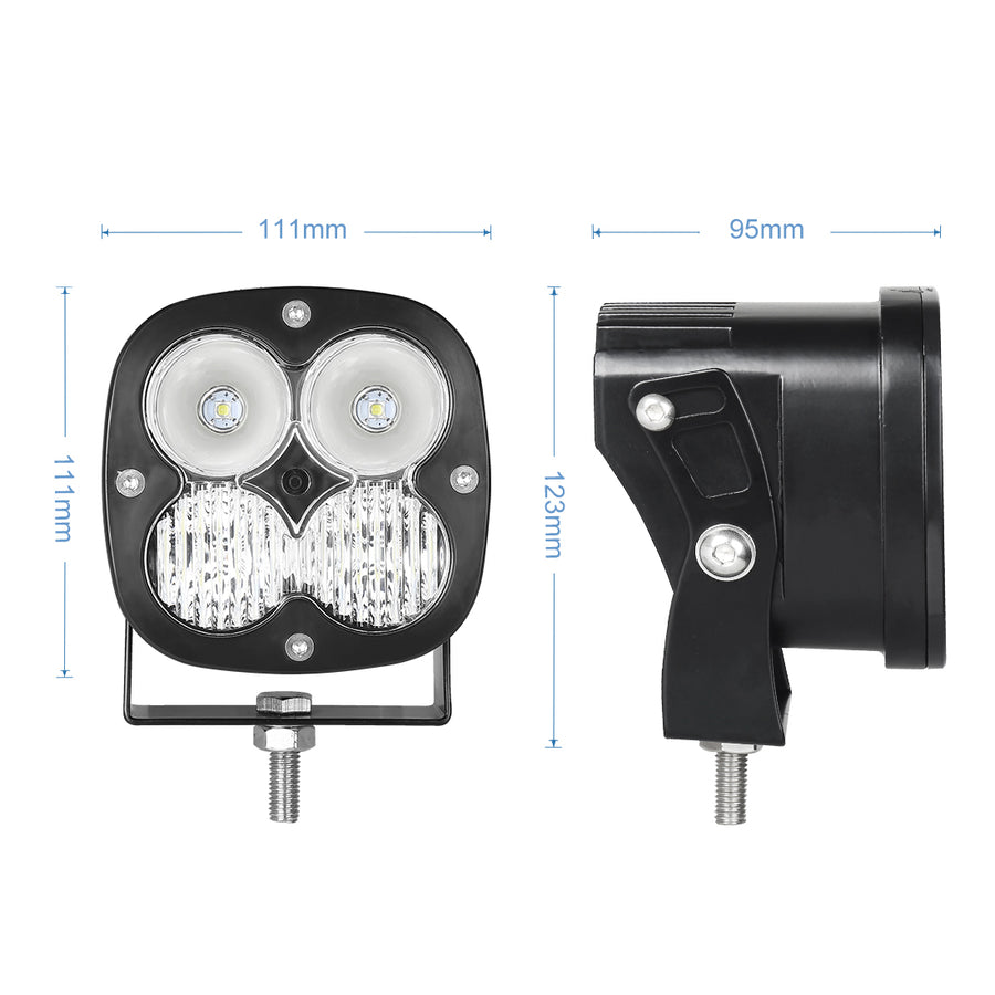 40W LED Work lights Mix Combo Beam Fog Lamps for Jeep 4x4 SUV