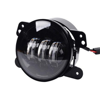 7 Inch 120W CREE LED Angle Eyes Headlight, 4 Inch Fog Lamps & Smoked Turn Signals