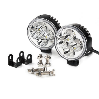 "USA ONLY Set of 2 - 3"" 12W Round High Power LED Spot Lights"