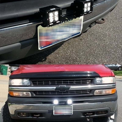 US Edition Black License Plate Frames Mounting Bracket For Jeep Pick-up Truck - LED Factory Mart
