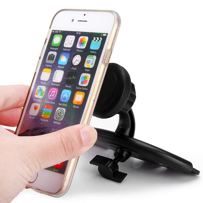 Excelvan Powerful Magnetic Suction Car CD Slot Mount Stand for Mobile Phone / Mini Tablets / GPS Devices