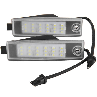 12V Number License Plate Light / Bulb with 18 LEDs White Light for Toyota Hiace Regiusace Vanguard - LED Factory Mart