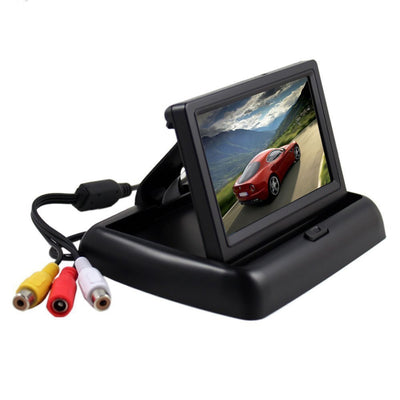 Foldable 4.3 Inch HD Car Reversing Digital LCD Color Monitor Display NTSC PAL