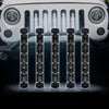 "USA ONLY 5PC 8"" Single Row CREE LED Grille Light Kit"